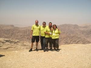 Die Landschaft auf dem Weg zu Petra